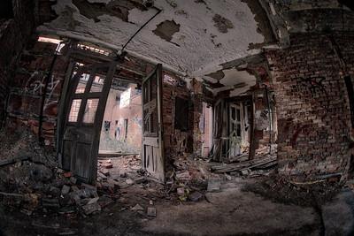 Broken Doors in an Abandoned Building