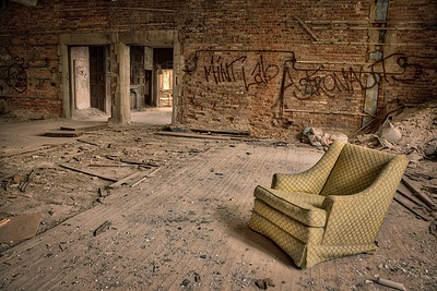 Old Chair in an Abandoned Room