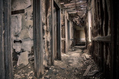 Abandoned and Crumbling Hallway