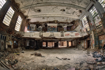 Abandoned City Methodist Church Auditorium in Gary, Indiana