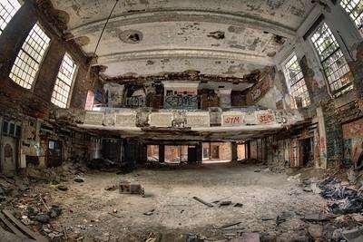 Abandoned City Methodist Church Auditorium in Gary, Indiana