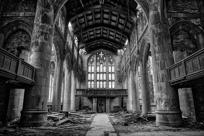 Abandoned Church Cathedral - City Methodist Church in Gary, Indiana