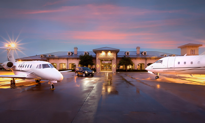sugarland regional airport twilight photography