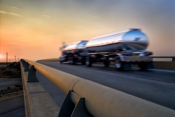 Oil Truck Sunset