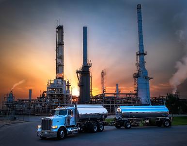 Refinery at Sunrise