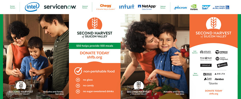 Advertising photography created for Second Harvest Food Bank of Silicon Valley.