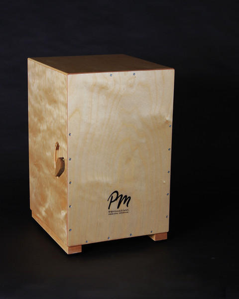 "PM Percussion custom Cajon by Peter Musser drum maker.  View his website   <a href=""http://www.pmpercussion.com"">http://www.pmpercussion.com</a>"