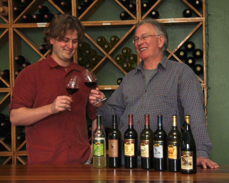 "Jamie & Fred Peterson of Peterson Winery.    <a href=""http://www.petersonwinery.com/"">http://www.petersonwinery.com/</a>"
