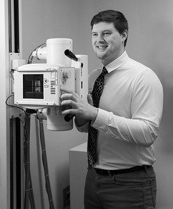 Environmental portrait with medical equipment