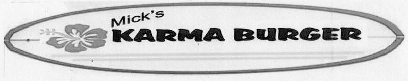 Karma Burger Original Logo Concept