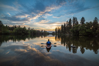 Spokane River Kayak Stillness