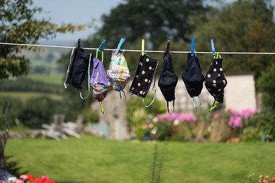 face masks on washing line (1)