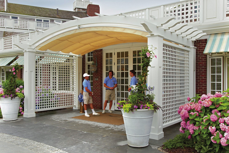 608 - 425177 - Chatham MA - Arched Entry Pergola with Canopy