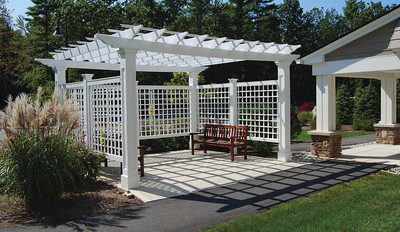 961 - Exeter NH - Pergola with Lattice Sides