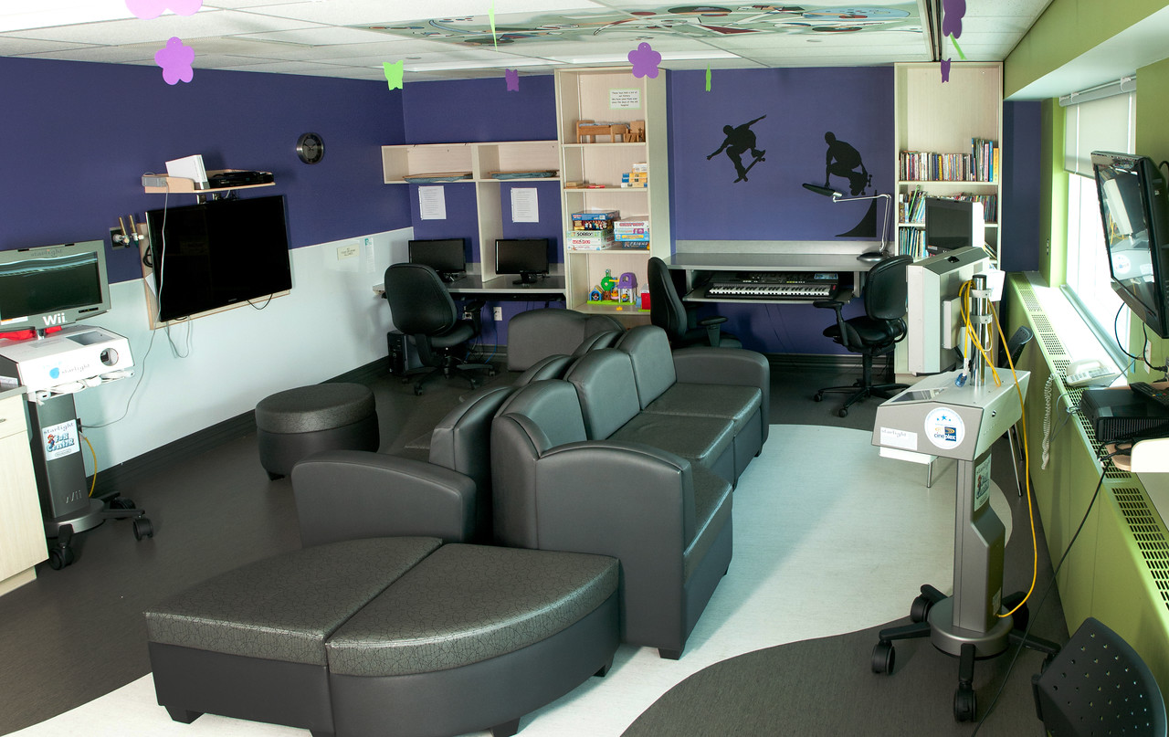 """This is the """"Teen Room"""" at the Red Deer Regional Hospital."""