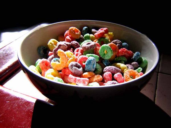 Life is a bowl of Fruit Loops.