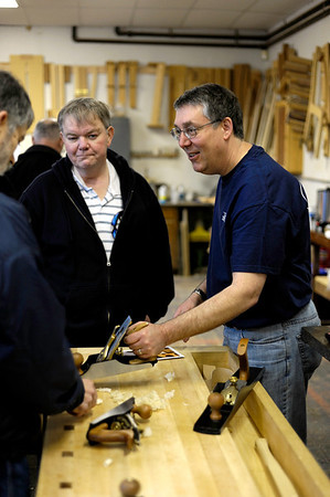 Blaine Harrison helping out for Lie-Nielsen Toolworks
