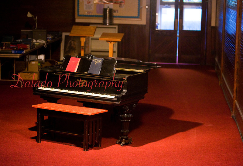 A Steinway and Sons grand piano sits inside St. John's United Methodist Church, Coal Township.
