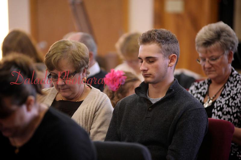 Paul Gurba attends Palm Sunday service.