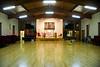 The inside of St. John's United Methodist Church parish hall, Coal Township.