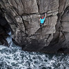 20 January 2016... Iain Miller rock climbing in Donegal... Photograph by Paul Doherty