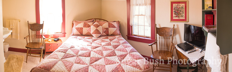 Red Quilt Room Panorama