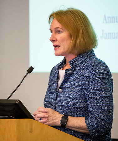 Seattle Mayor Jenny Durkan addresses Manufacturing Industrial Council.