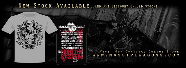 Massive Wagons Merch poster.
