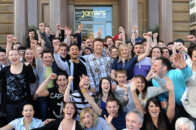 Jamie Oliver at the opening of his new restaurant on George square, Glasgow 2010