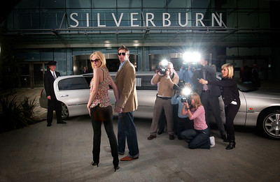 ...'Celebrity' for the day shoot at Silverburn shopping centre.