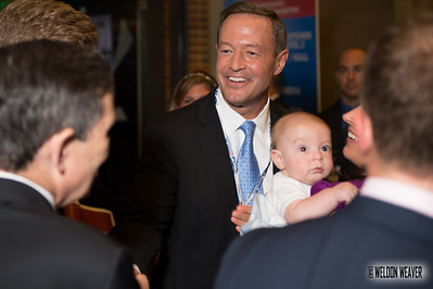 Maryland Governor Martin O'Malley.  DNC  Tues Sept. 4, 2012.  Charlotte NC.  Photo by Weldon Weaver.