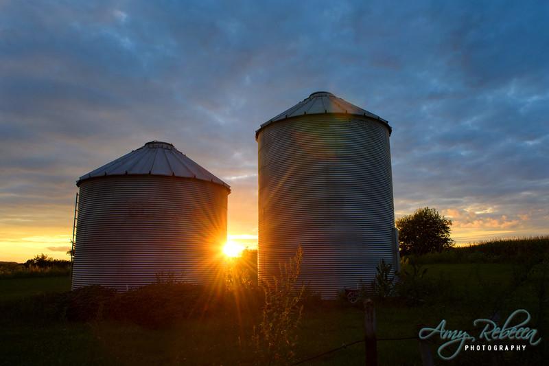 Farmers Sunset_