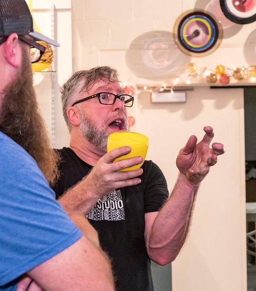 Hot Glass with Visiting Artosts Alex Stisser and John Miller.
