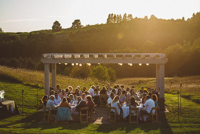 45 North, 45 North Vineyard and Winery, dinner in the vines, Leelanau County, MSU, MSU catering, pure michigan, sunset, forty five north
