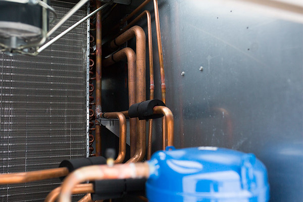 Heat pump coils - inside a heat pump