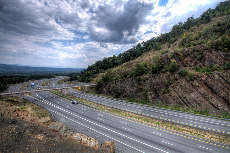 Sideling Hill - Gateway to Western Maryland  (looking east)