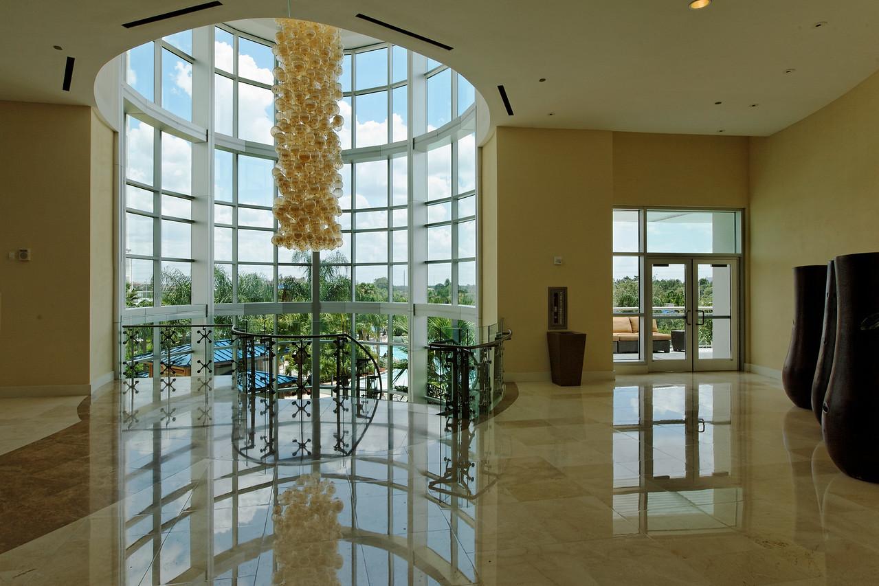 Spiral Staircase and Chandelier at the Hilton Orlando - Orlando, Florida