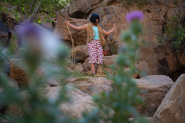 Ashima Mashiraishi at Button Rock, Lyons Colorado for The North Face