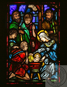 Religious Art, Stained Glass from Reformation Lutheran Church, Washington D.C