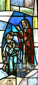 Religious Art, Stained Glass from 1st Christian Church (Disciples of Christ) Alexandria VA