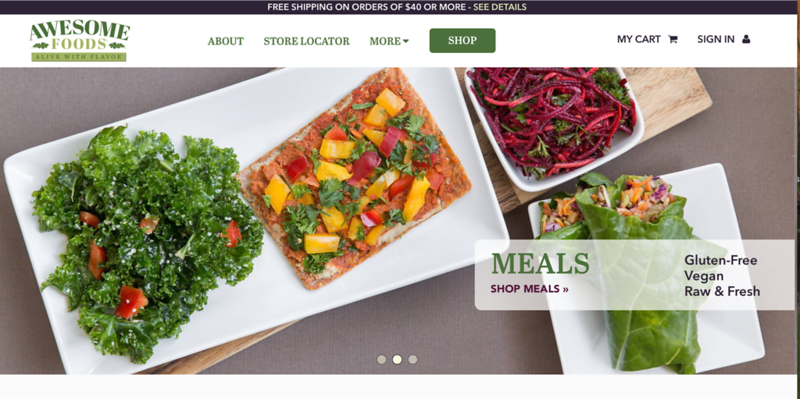 Awesome Foods Website