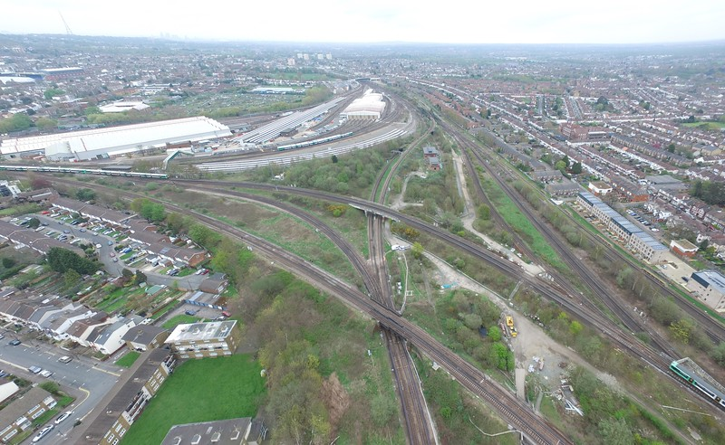 Aerial Video of Selhurst Triangle Junction