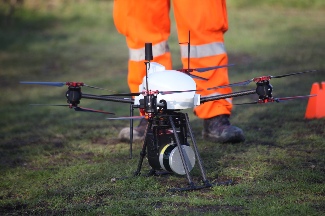 UAVs have a variety of data-gathering payload options including this LiDAR laser scanner