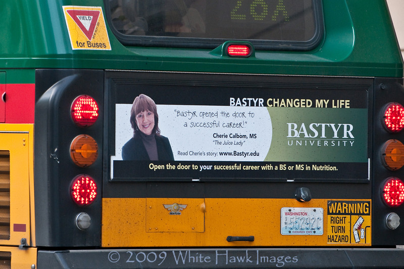 Commercial Photos:  for Bastyr University Metro Bus Advertising Campaign.  Ads on Buses, Seattle WA