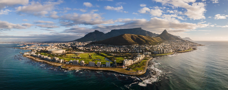 Summer sunset, Lions Head from Sea Point Cape Town, South Africa