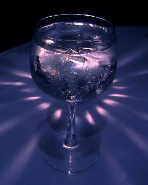 Water Glass with Exotic light