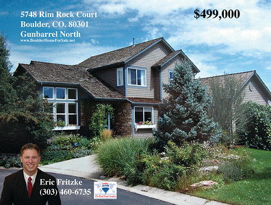 Marketing piece for realtor Eric Fritzke. Photos and layout