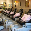 New lighting, paint, carpeting...clients also had more space to add two new pedicure chairs.