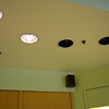 Lighting above pedicure stations, before