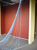 communications lines pulling through for new reception area